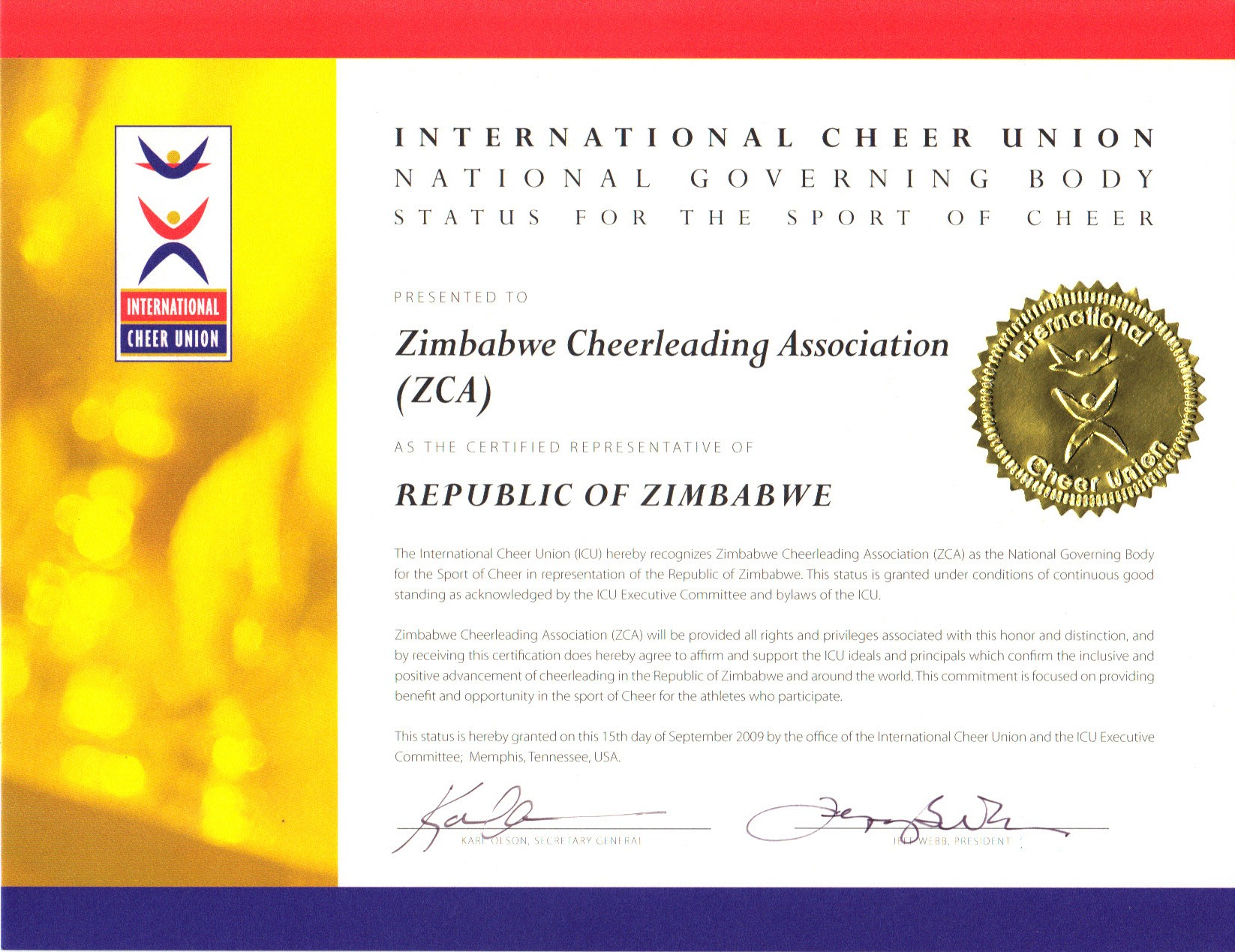 The Recognized World Governing Body Of Cheerleading Africa